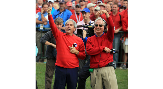 Fred Couples and Mark Rolfing