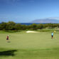 Wailea Gold Course Hole 5 on Maui with coastline and Molokini in the background