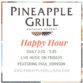 Pineapple Grill Kapalua Resort Happy Hour flyer